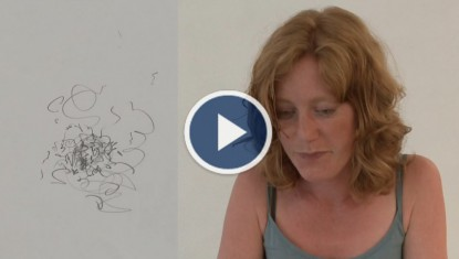 Fransien Bal Tekening (drawing) 673  video by Michiel Keller voice Caja van der Werff